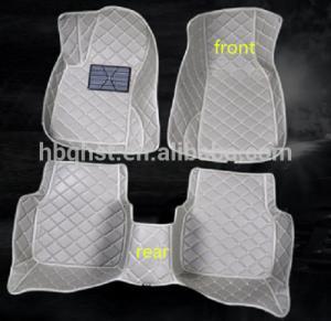 China Microfiber leather car floot mats microfiber embroidery car foot mats wholesale