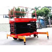 Self Propelled Electric Scissor Lift 12m Platform Hydraulic Motor Driving Manufactures