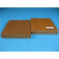 UV Resistant Plastic Outside Wpc Decking Flooring With Smooth Brushed Surface Manufactures