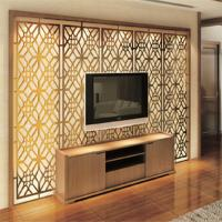 Modern design high quality metal decorative room screen TV background wall screen price Manufactures