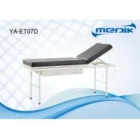 China Power Coating Doctor Examination Table With Drawers 2 Section on sale