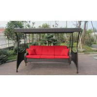 China Indoor Home Brown Rattan Swing Chair , All Weather Hanging Chair on sale