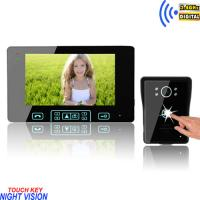 "7"" color handsfree video door phone kits Manufactures"