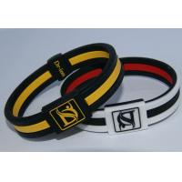 Eco - Friendly Silicone Negative Ion Bracelets Customized Black Bangles Manufactures