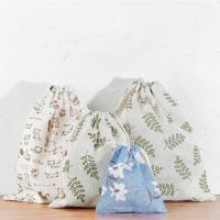 Travel Storage Bag Reusable Cute Pattern Printed Drawstring Backpack Bag