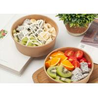 Disposable kraft paper bowl takeaway fast food container strong disposable bowls Manufactures