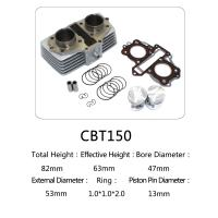 China CBT150--motorcycle cylinder kit,double cylinder block of engine parts on sale