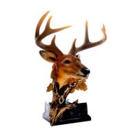 Decorative Resin Buck Head , Small 8 Point Buck Deer Head Bust Wall Hanging Manufactures