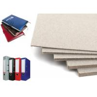 China Arch File / Notebook Cover Anti-Curl grade A Grey Book Binding Board Paper Sheet on sale