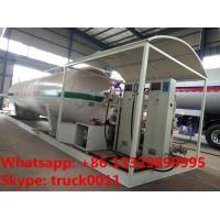 China best quality skid mounted propane gas filling plant for sale, double electronic scales skid lpg gas station for sale on sale