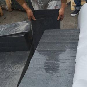 China Acid Resistant G654 Granite Stone Slabs , Dark Grey Granite Paving Slabs on sale