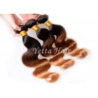 China Honey Blonde Hair Ends Ombre Human Hair Extension With 3 Tone Color on sale