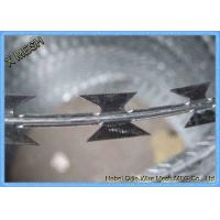 Concertina Hot Dipped Galvanized Construction Binding Wire , Razor Barbed Wire Durable