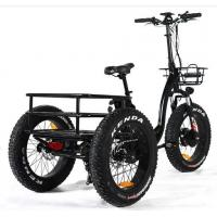 China Green Travel Three Wheel Electric Scooter 4.0 Inch Fat Tire Controller 48V 21A on sale