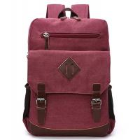 Reusable 13 Inch Polyester Laptop Bag / Red Canvas Laptop Backpack Lightweight Manufactures