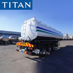 China TITAN carbon steel fuel tank semi trailer diesel/oil/petroleum tanker trailer on sale
