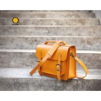 Yellow Oversized Handbags High Quality Handmade Leather Satchel Handbag Manufactures