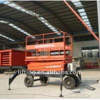 1000kgs 3000kg Electric scissor lift platform with diesel / electrical power Manufactures