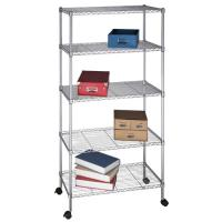 China Rolling Metal Wire Shoe Display Rack with 7 Shelves on sale