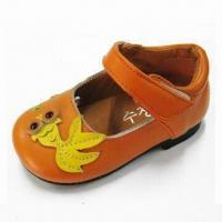 Girl's PU Sandals with Matched 1st Pigskin Lining and Insole for Breathness Manufactures