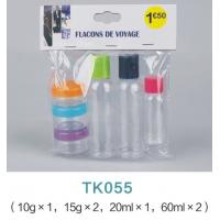 China 6pcs travel bottle set for pvc bag / cosmetic plastic bottle packaging on sale