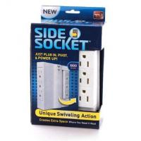 Multifunction Side Swivel Socket , ABS Copper Space Saving Wall Power Strip Manufactures