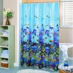 Beautiful 3D EVA Shower Curtain, Bathroom Curtain Manufactures