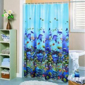 China Beautiful 3D EVA Shower Curtain, Bathroom Curtain on sale