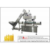 Intelligent Electric Screw Bottle Capping Machine PCL Control Capacity 40-100 BPM Manufactures