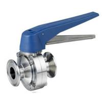Food Grade Sanitary SS 304 316L welding Butterfly Valve with Ss Plastic Gripper Manufactures