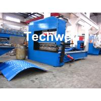 Auto Crimping Cold Roll Forming Machine , Arch Metal Roofing Forming Machine Manufactures