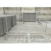 China Galvanized temporary fence 84 microns hot dipped galvanized after fabricated 2.1m height x 2.4m width tubing 32mm*1.5 on sale
