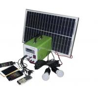 China USB Cable Home Solar Power System , Portable Solar Powered Generator For Travel on sale