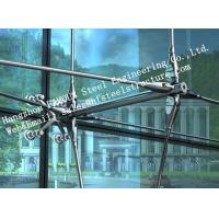 Stainless Steel Fin Fully Spider Fitting Frameless Glass Curtain Wall for showroom Manufactures