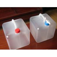 Household family use camping outdoor foldable water container, PE Collapsible plastic bags Manufactures