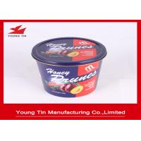 Reuseable Round Gift Tins YT1076 , Large Dried Foods Packaging Container With Lids Manufactures