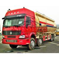 China 8x4 Dry Bulk Cement Truck HW76 /  HW79 Cabin Model Low / High Roof Cabin on sale