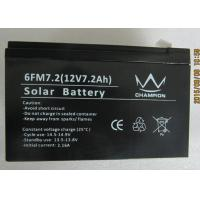 China 6fm7.2 Deep Cycle Black Charging Lead Acid Batteries With Solar on sale