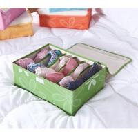 China Collapsible divided storage box for underwear on sale