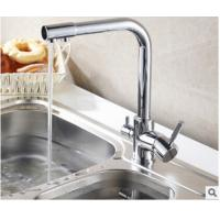 China 3 In 1 Brass Gooseneck Kitchen Faucet Connect Pure Water Hot Cold Water In Kitchen on sale