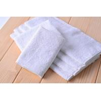 China White Hotel Small Kitchen Tea Towels Disposable With Cotton Blended Fabric on sale