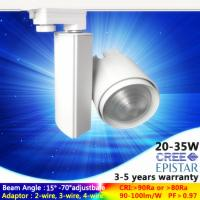 China dimmable big lens changeable led fixtures lighting 4000K 15W commercial led track light use cree on sale