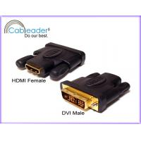 12.5+ Gbps corrosion resistance HDMI Female Adapter DVI-D 18+1 pin Male to 19 pin Female Manufactures