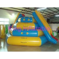 China Blue / Yellow Giant Blow up Water Toy CE 0.9mm PVC Tarpaulin Slide For Water Equipment on sale