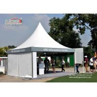 Commercial Advertising White Color Gazebo Tent Flexible Movable Fixing For Trade Show Manufactures