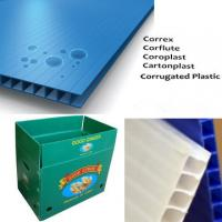 Impact Resistant corrugated plastic packaging sheets For Indoor / Outdoor Manufactures
