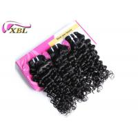 18 Inches Natural Black Cambodian Virgin Hair Jerry Curl Hair Weaves No Tangle Manufactures