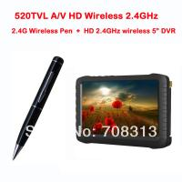 China 2.4G Wireless Ultra-low lux Pen Camera + HD 2.4GHz wireless mini DVR 5inch TFT support 3 on sale