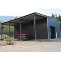 China Small Storage Prefab Steel Structure Building Warehouse With Two Cantilever Shed on sale