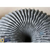 PVC Coated Fiberglass Fabric Grey Flexible Air Ducts 200MM 260℃ Waterproof Manufactures